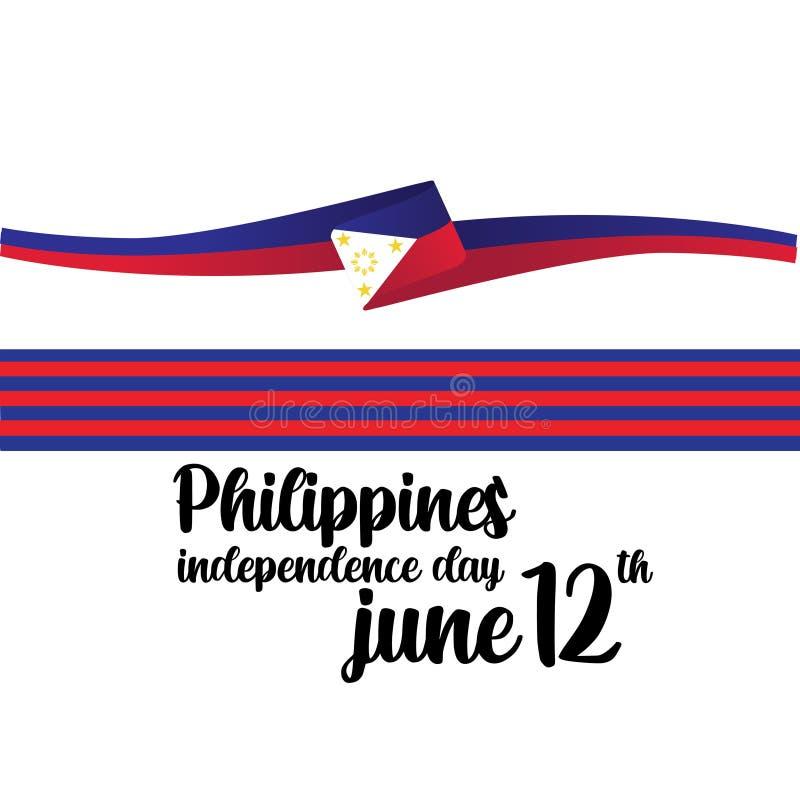 Των Φιλιππινών ανεξάρτητη απεικόνιση σχεδίου προτύπων ημέρας διανυσματική - διάνυσμα ελεύθερη απεικόνιση δικαιώματος