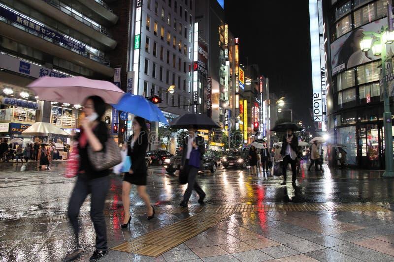 Τόκιο στη βροχή στοκ εικόνα