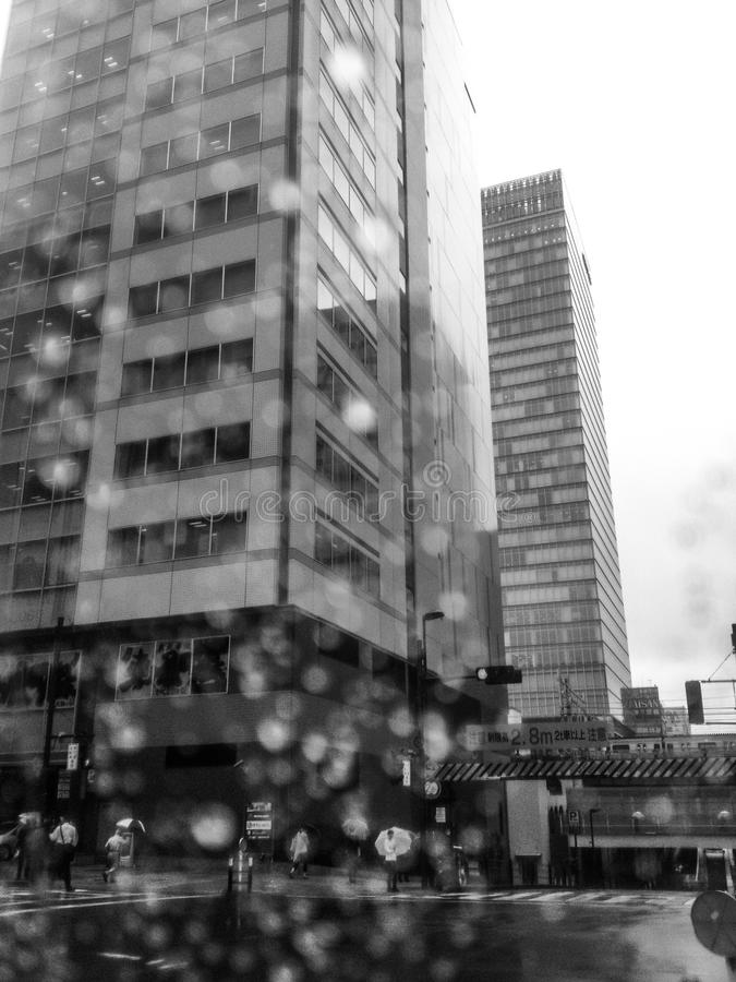 Τόκιο στη βροχή στοκ φωτογραφίες