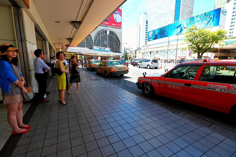 Τόκιο: Ταξί σε Shinagawa στοκ εικόνες
