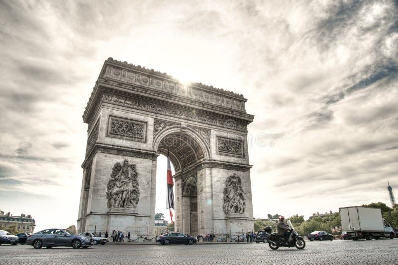 Τόξο Ντε Τρίομφε Παρισιού στοκ εικόνα