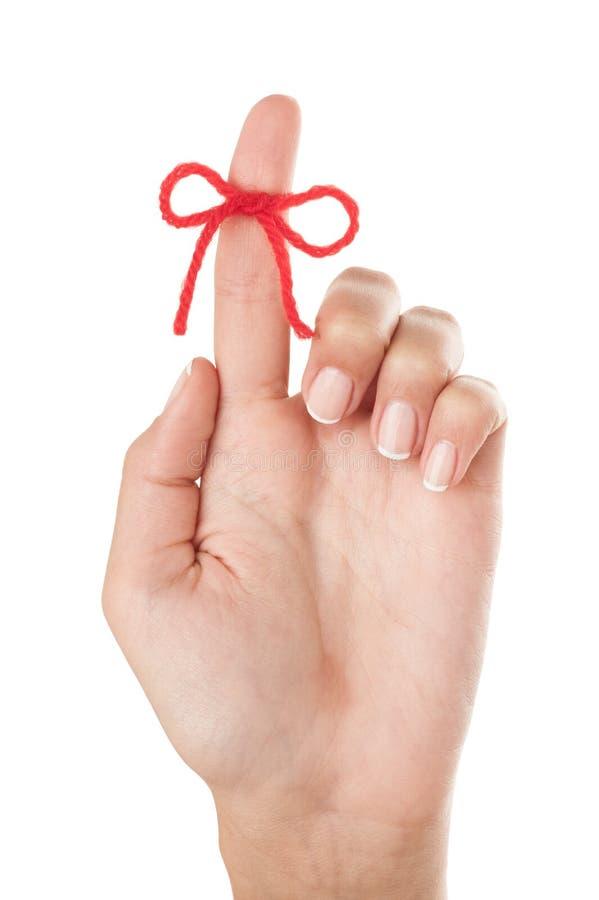 Τόξο στο δάχτυλο στοκ εικόνες με δικαίωμα ελεύθερης χρήσης