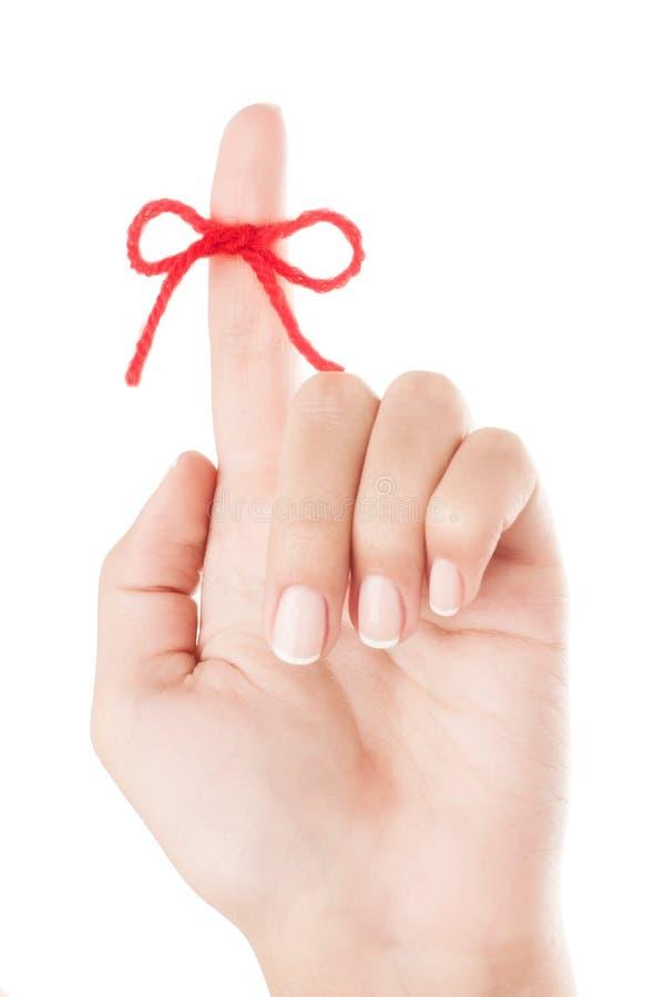 Τόξο στο δάχτυλο στοκ φωτογραφία