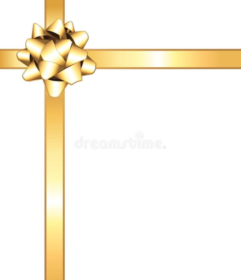 τόξο χρυσό διανυσματική απεικόνιση