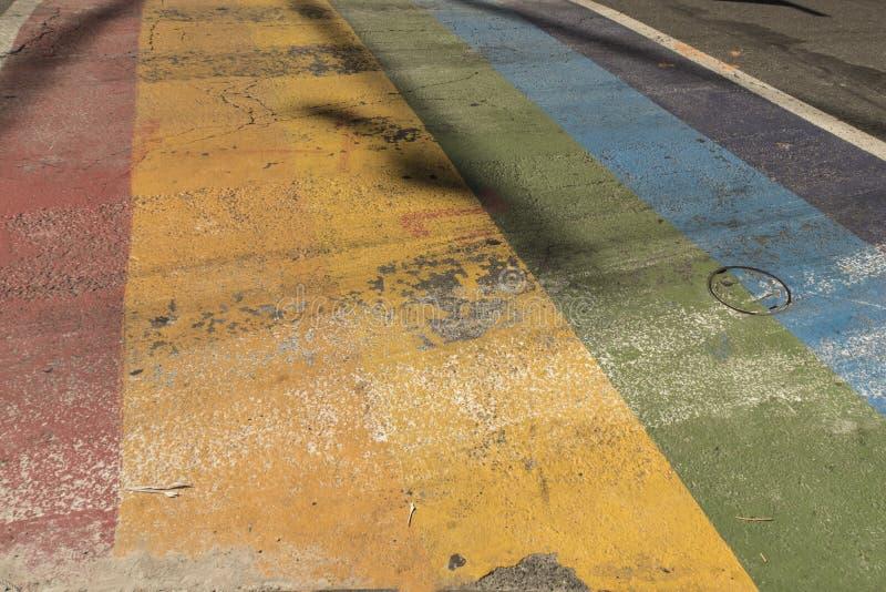 Τόξο-χρωματισμένη οδός στοκ φωτογραφίες με δικαίωμα ελεύθερης χρήσης