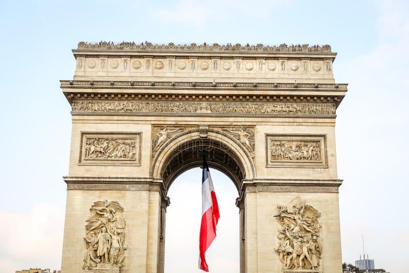 τόξο de Γαλλία Παρίσι triomphe στοκ εικόνα