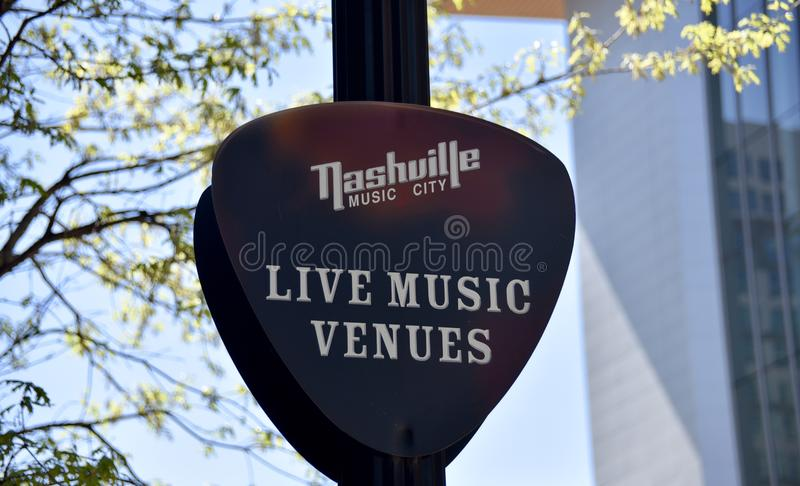 Τόποι συναντήσεως ζωντανής μουσικής του Νάσβιλ Τένεσι στοκ εικόνες