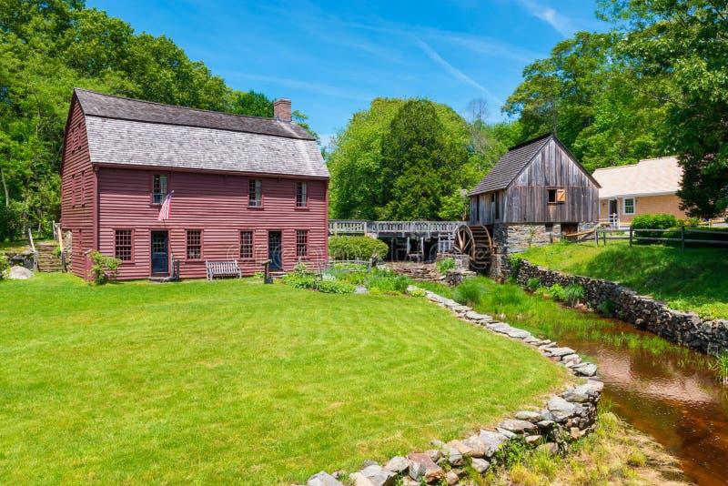 Τόπος γεννήσεως και μουσείο του Gilbert Stuart στο Ρόουντ Άιλαντ ΗΠΑ Saunderstown στοκ φωτογραφία