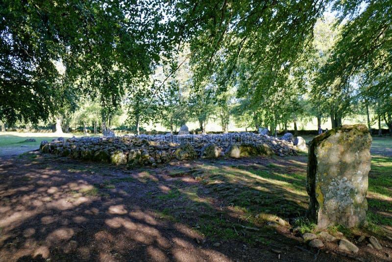Τύμβοι Clava - Iνβερνές, Σκωτία στοκ εικόνες με δικαίωμα ελεύθερης χρήσης