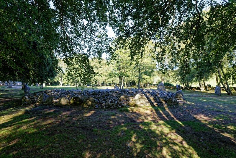 Τύμβοι Clava - Iνβερνές, Σκωτία στοκ φωτογραφία