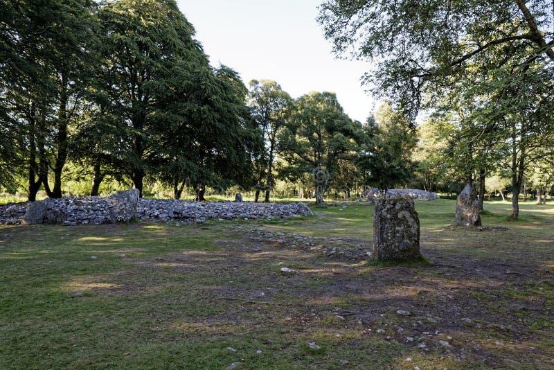 Τύμβοι Clava - Iνβερνές, Σκωτία στοκ φωτογραφίες με δικαίωμα ελεύθερης χρήσης