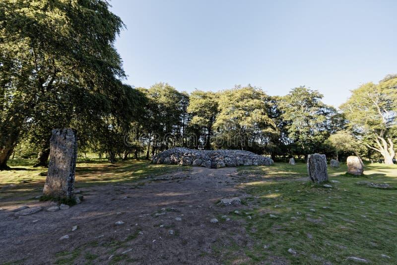 Τύμβοι Clava - Iνβερνές, Σκωτία στοκ εικόνες