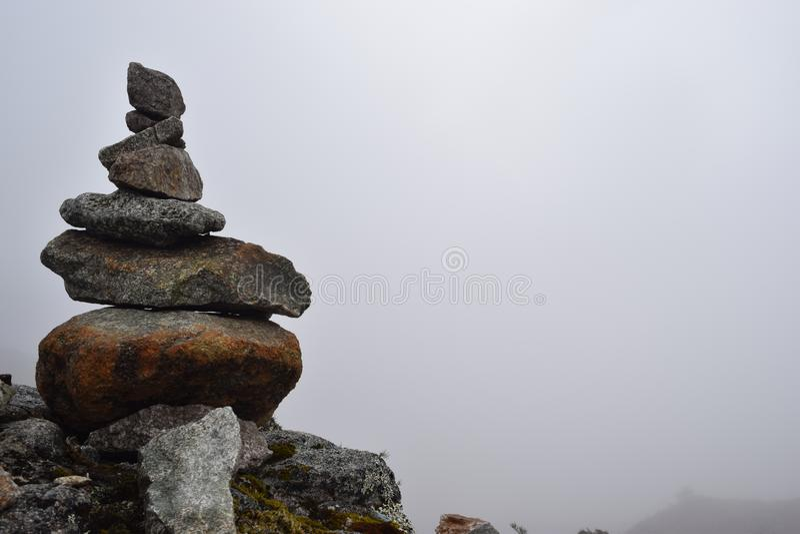 Τύμβος επάνω στο πέρασμα ιχνών Inca στοκ φωτογραφίες με δικαίωμα ελεύθερης χρήσης