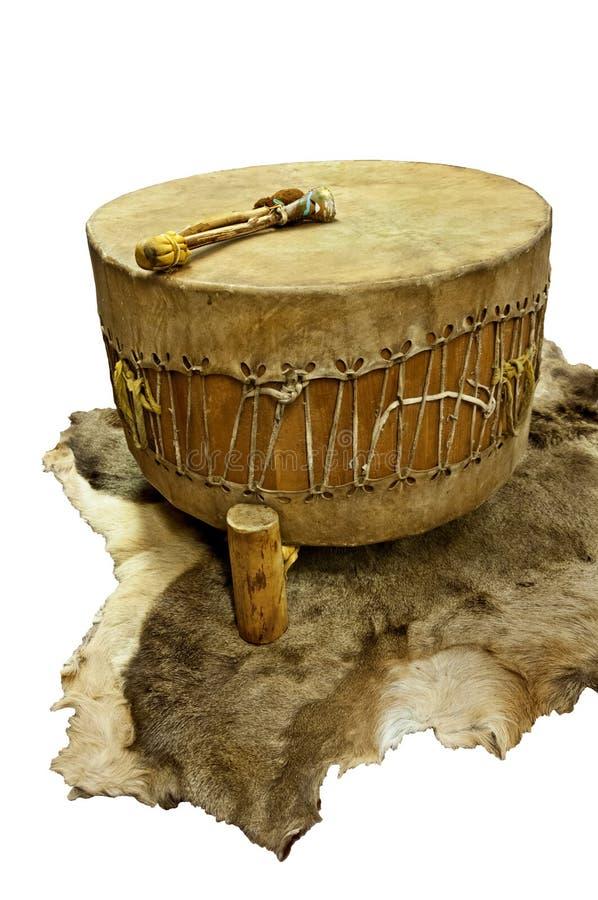 Τύμπανο αμερικανών ιθαγενών στοκ φωτογραφία