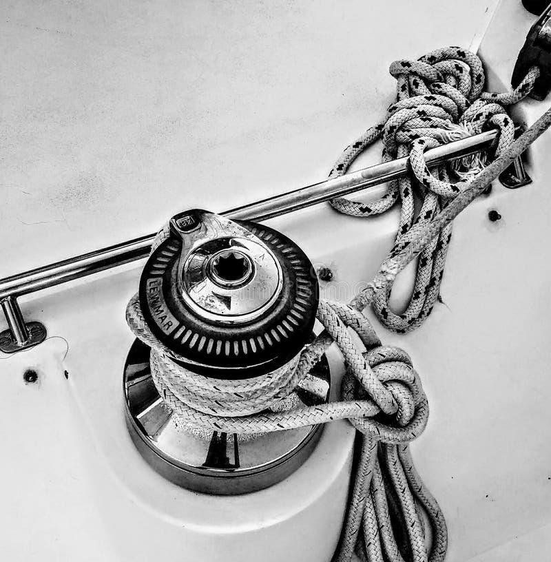 Τύμπανο και γραμμή sailboat στοκ φωτογραφία