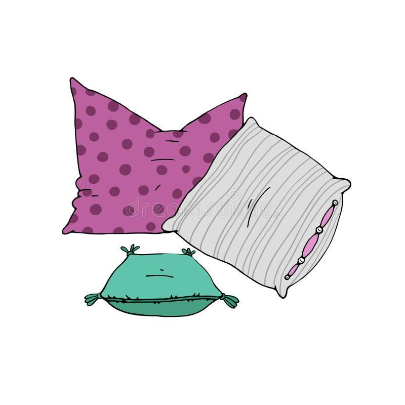 Τύποι μαξιλαριών ύπνου καθορισμένων απεικόνιση αποθεμάτων