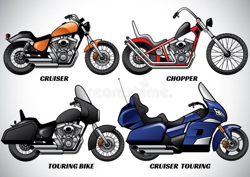 Τύποι μερών 3 μοτοσικλετών ελεύθερη απεικόνιση δικαιώματος