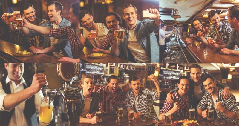 Τύποι που στηρίζονται στο μπαρ στοκ εικόνα