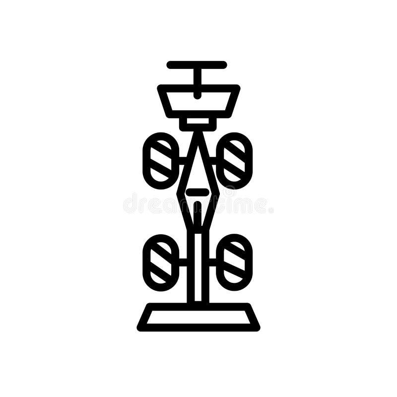 Τύπος 1 διάνυσμα εικονιδίων που απομονώνεται στο άσπρο υπόβαθρο, τύπος 1 σημάδι, γραμμικά σύμβολο και στοιχεία σχεδίου κτυπήματος απεικόνιση αποθεμάτων