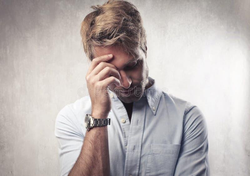 τύπος λυπημένος στοκ φωτογραφίες