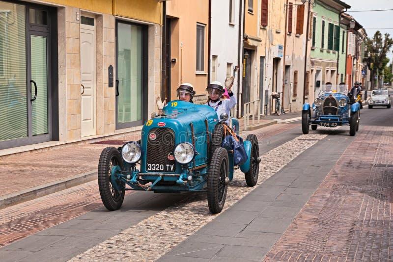 Τύπος 23 1920 Bugatti σε Mille Miglia 2017 στοκ φωτογραφίες με δικαίωμα ελεύθερης χρήσης
