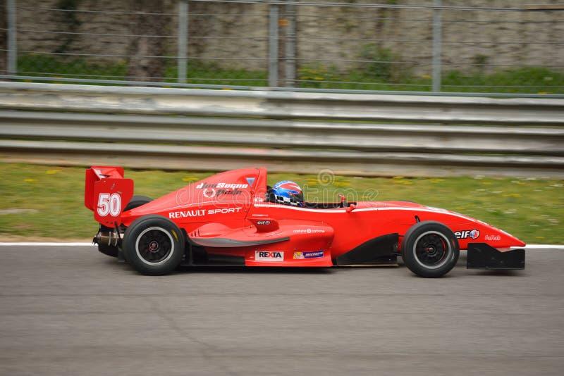0 2 τύπος Renault δοκιμή 0 αυτοκινήτων σε Monza στοκ εικόνες
