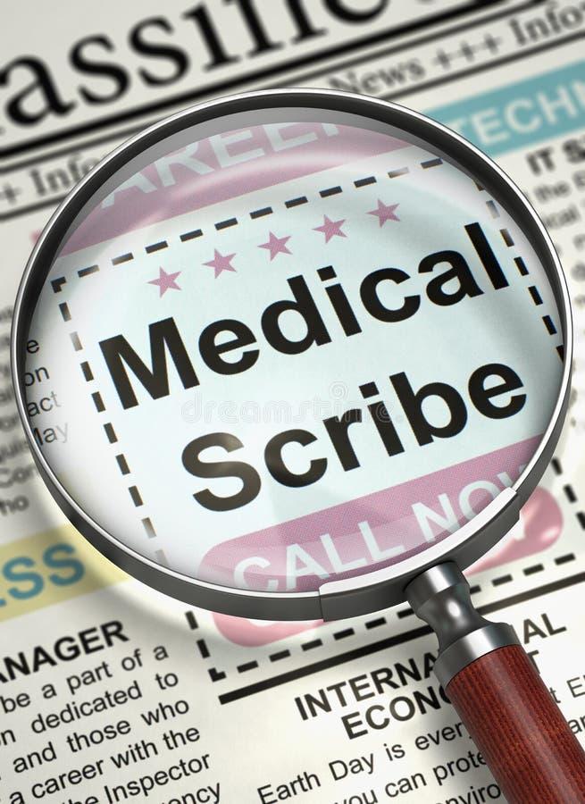 Τώρα μισθώνοντας ιατρικός γραφέας τρισδιάστατος στοκ φωτογραφίες με δικαίωμα ελεύθερης χρήσης