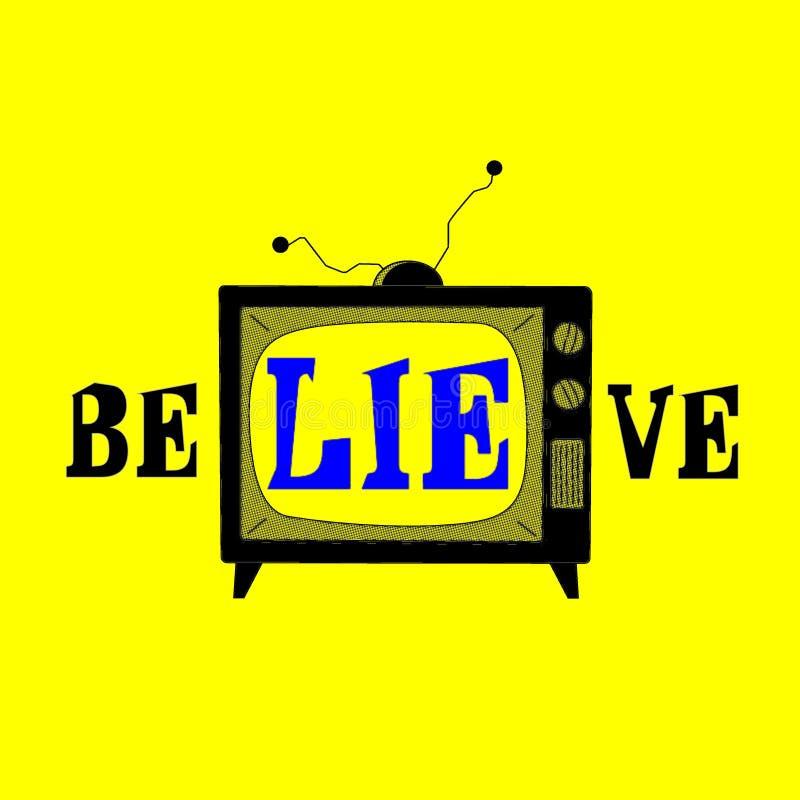 Τ Β Είναι ένα ψέμα ελεύθερη απεικόνιση δικαιώματος
