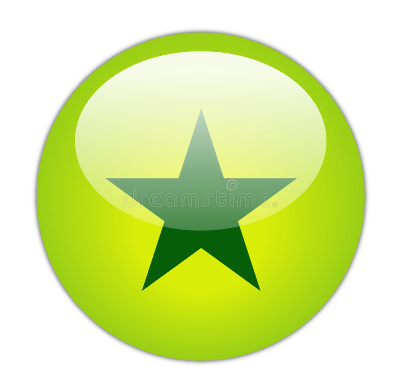 υαλώδες πράσινο αστέρι ε&i ελεύθερη απεικόνιση δικαιώματος
