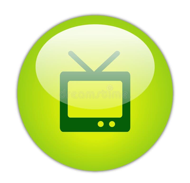 υαλώδης πράσινη τηλεόραση εικονιδίων ελεύθερη απεικόνιση δικαιώματος