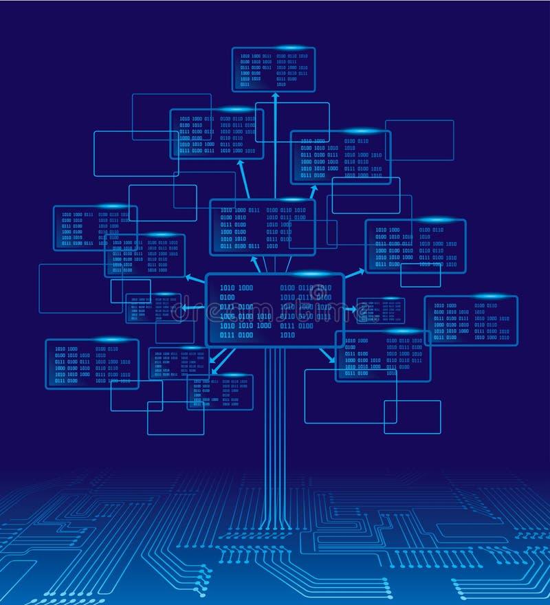 δυαδικό δέντρο διανυσματική απεικόνιση