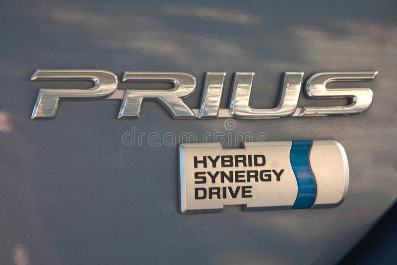 υβριδικό prius αυτοκινήτων στοκ φωτογραφίες