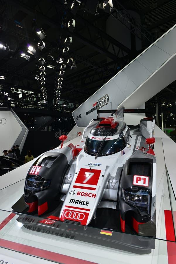 Υβριδικό ράλι του Le Mans quattro Audi R18 ε -ε-tron στοκ φωτογραφίες με δικαίωμα ελεύθερης χρήσης