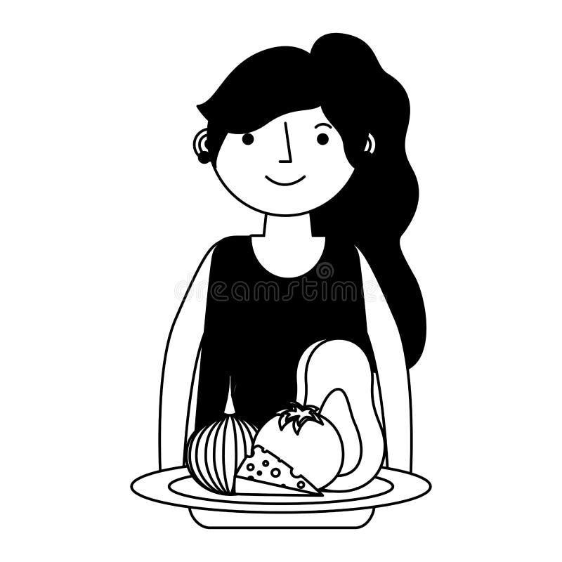Υγεία γυναικών και τροφίμων ελεύθερη απεικόνιση δικαιώματος