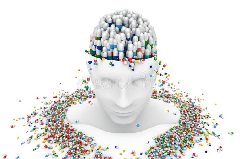 Υγεία, ιατρική, ασθένεια και φάρμακα διανυσματική απεικόνιση