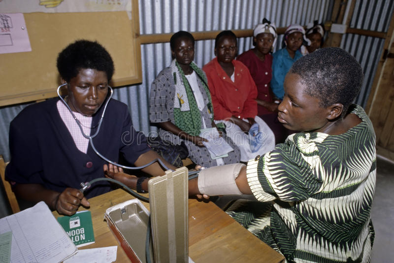 Υγειονομική περίθαλψη για τις κενυατικές γυναίκες, Ναϊρόμπι στοκ εικόνα με δικαίωμα ελεύθερης χρήσης