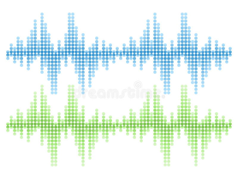 Υγιές ακουστικό διανυσματικό σύνολο κυμάτων στοκ εικόνα με δικαίωμα ελεύθερης χρήσης