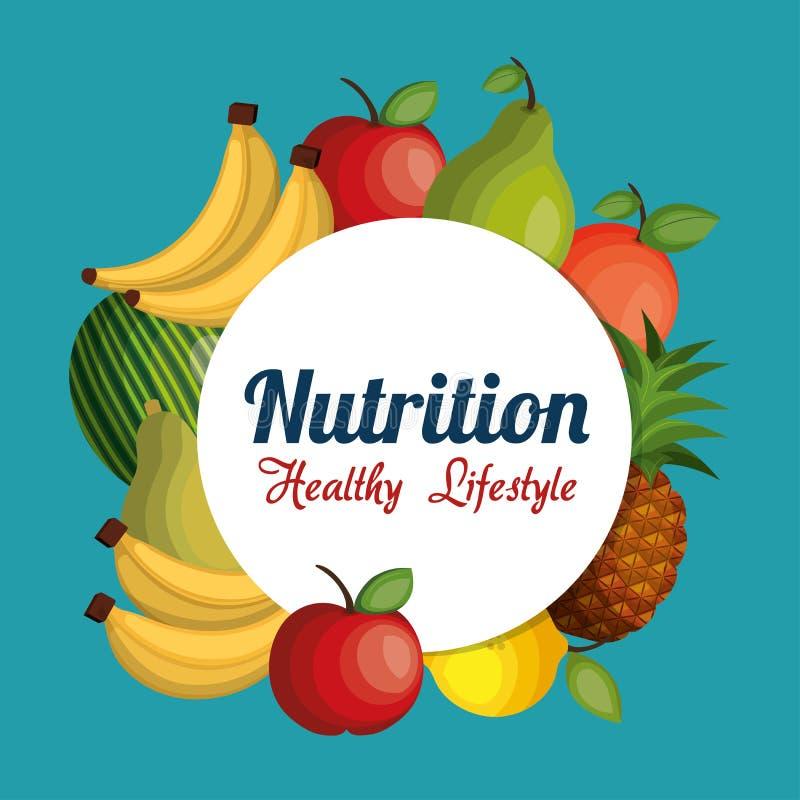 Υγιές απομονωμένο τρόφιμα εικονίδιο διατροφής διανυσματική απεικόνιση