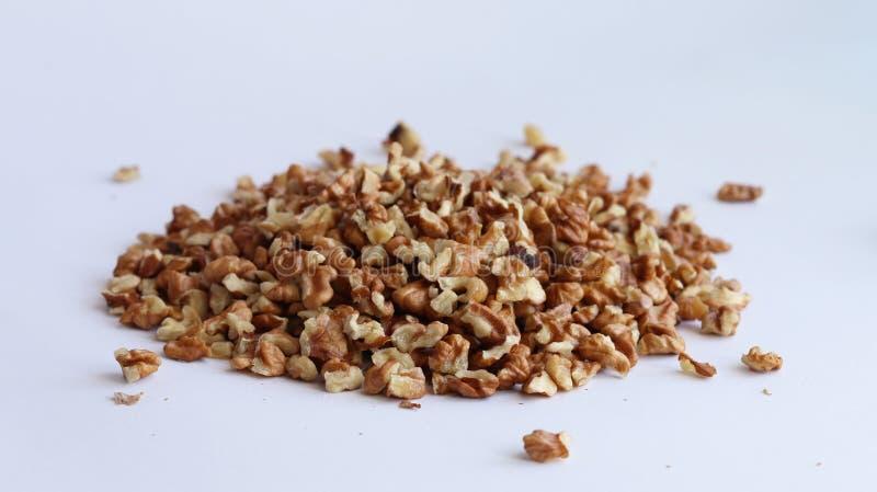 υγιές λευκό ξύλων καρυδιάς σειράς εικόνας τροφίμων ανασκόπησης στοκ εικόνα με δικαίωμα ελεύθερης χρήσης