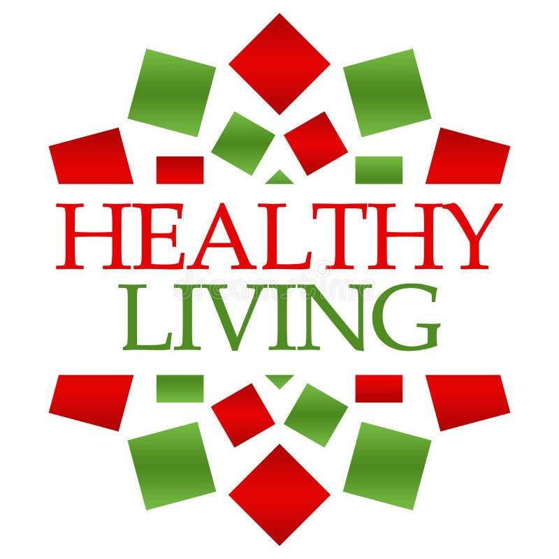 Υγιές κόκκινο πράσινο κυκλικό υπόβαθρο διαβίωσης ελεύθερη απεικόνιση δικαιώματος