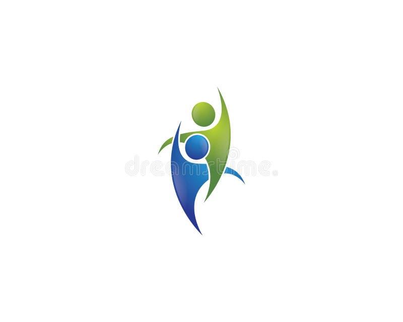 Υγιές λογότυπο ζωής διανυσματική απεικόνιση