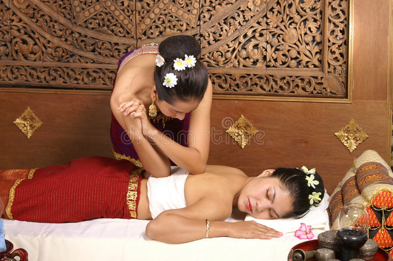 υγιές μασάζ Ταϊλανδός στοκ φωτογραφία