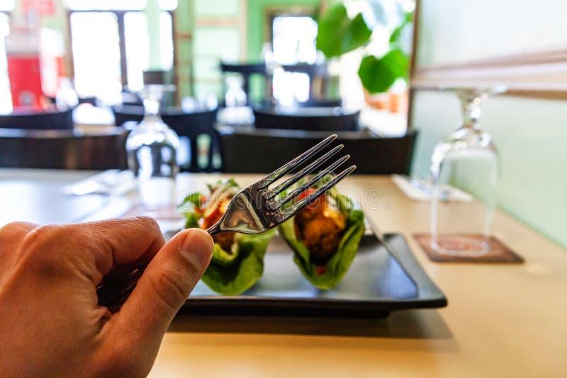 Υγιές ορεκτικό στο εστιατόριο στοκ φωτογραφία με δικαίωμα ελεύθερης χρήσης