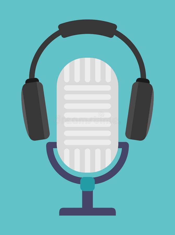 Υγιές σχέδιο συσκευών μικροφώνων ελεύθερη απεικόνιση δικαιώματος