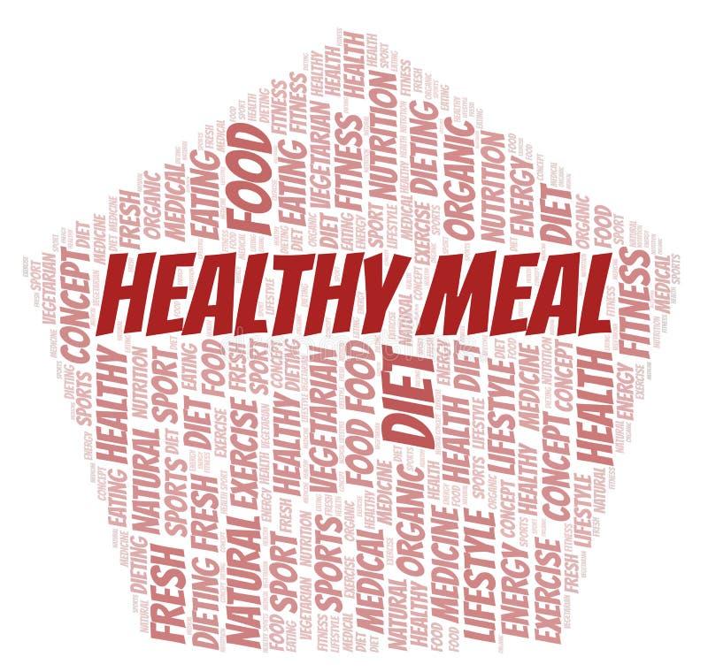 Υγιές σύννεφο λέξης γεύματος ελεύθερη απεικόνιση δικαιώματος