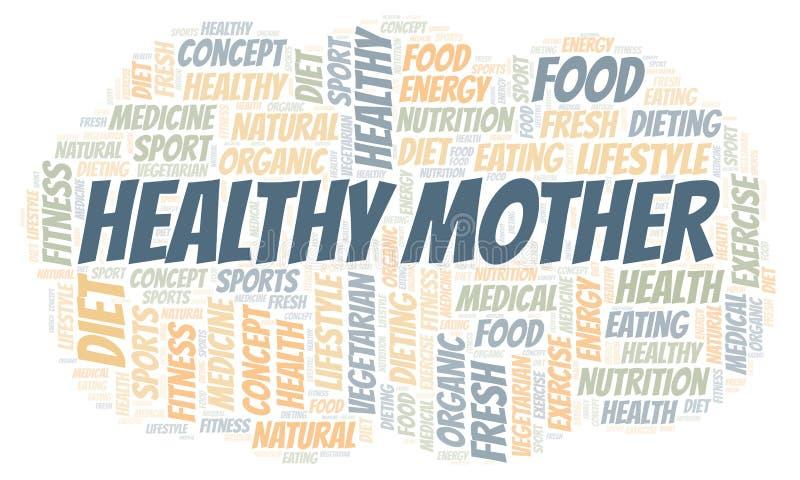 Υγιές σύννεφο λέξης μητέρων απεικόνιση αποθεμάτων