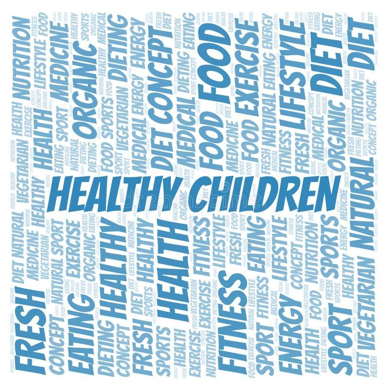 Υγιές σύννεφο λέξης παιδιών ελεύθερη απεικόνιση δικαιώματος