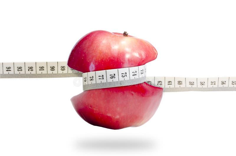 Υγιές σύνολο μήλων αδυνατίσματος φρούτων των βιταμινών στοκ εικόνα