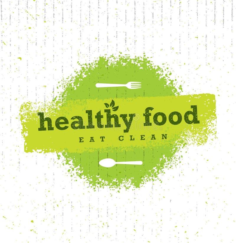 Υγιές τροφίμων οργανικό Paleo στοιχείο σχεδίου ύφους τραχύ διανυσματικό στο υπόβαθρο χαρτονιού απεικόνιση αποθεμάτων