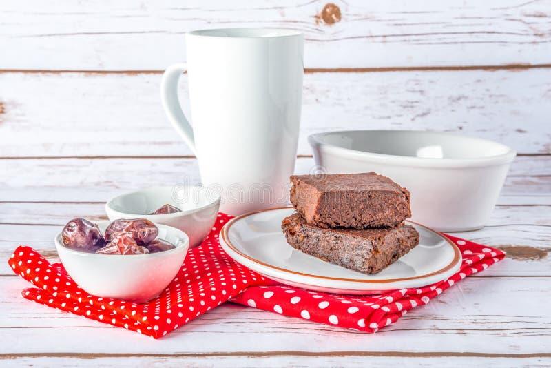 Υγιές ύφος Paleo γλουτένης ελεύθερο brownies στοκ φωτογραφίες με δικαίωμα ελεύθερης χρήσης